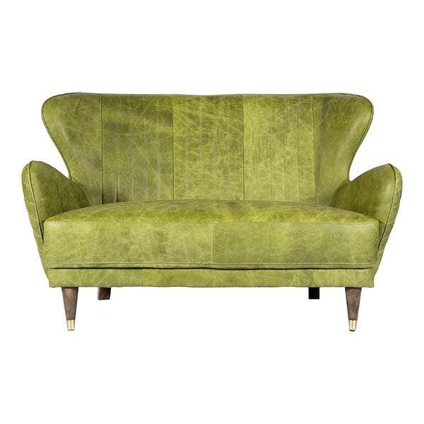 Moe's Home Collection Keaton Leather Loveseat Emerald - PK-1079-27