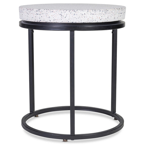 Moe's Home Collection Circulate Round Side Table Salt And Pepper - SID-ZT-011-044
