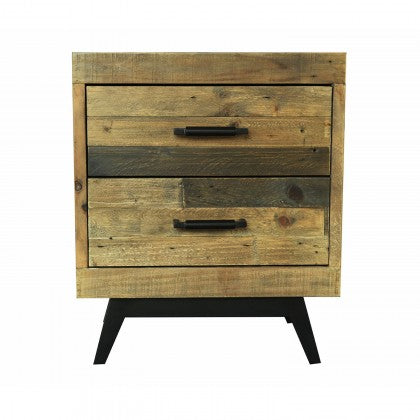 CDI Furniture Dixon 2-Drawer Nightstand in Natural Finish