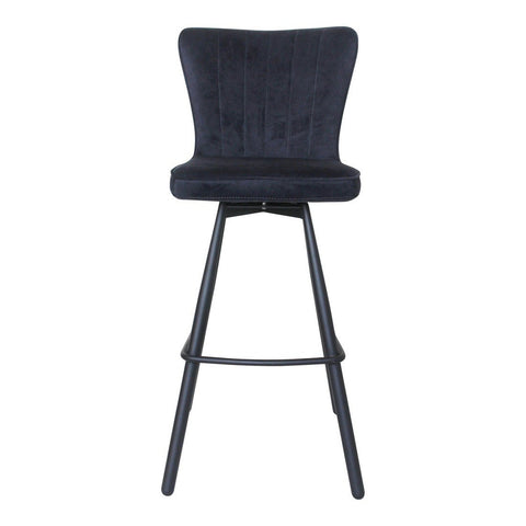 Moe's Home Collection Sonnet Barstool Blue - UU-1012-28