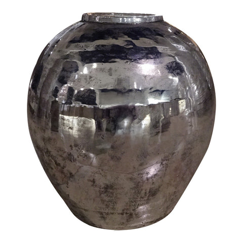 Moe's Home Collection Sphere Vase Silver - XC-1006-30