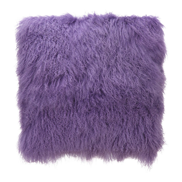 Moe's Home Collection Lamb Fur Pillow Large Purple - XU-1005-10