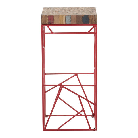 Moe's Home Collection Rubic Barstool Red - XW-1002-04