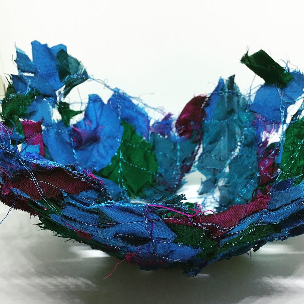 Silk Sari Waste Bowl