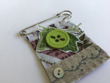 Vintage Brooch - Green Ivy