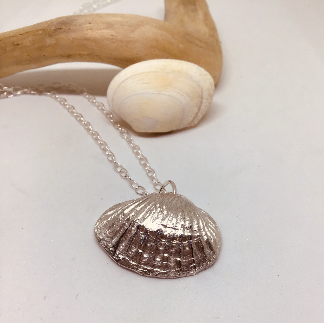 Silver Cockle Shell Pendant