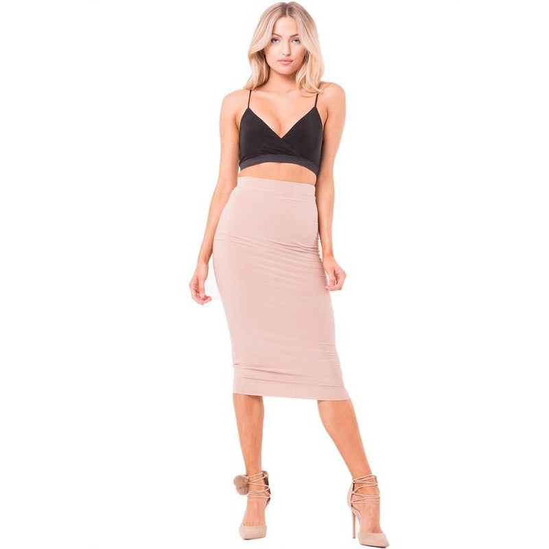 Essential Midi Skirt-Skirt-Savvy Chic Apparel-Savvy Chic Apparel