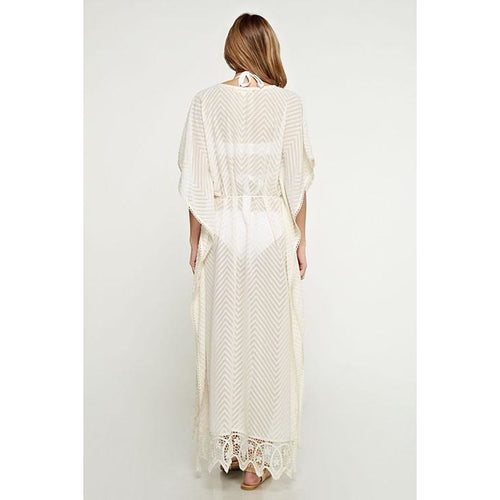 Lace and Tassel belted Kaftan