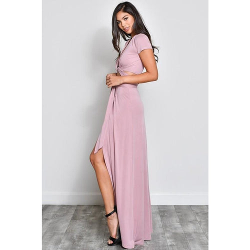 Light Mauve 2 Piece Maxi Skirt Set-Set-Savvy Chic Apparel-Savvy Chic Apparel