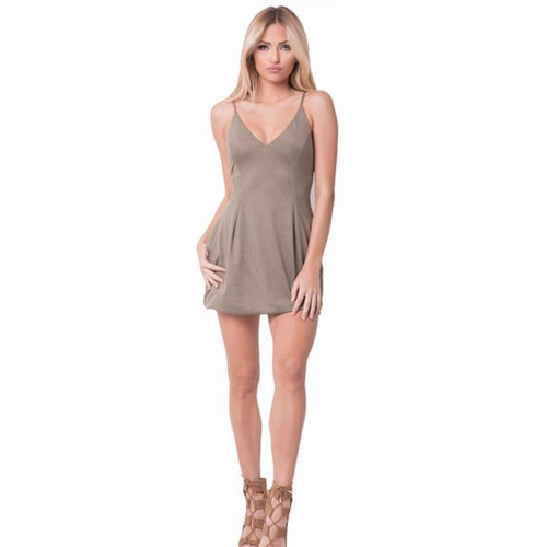 Suede Babydoll Mini Dresses, 3 Colors