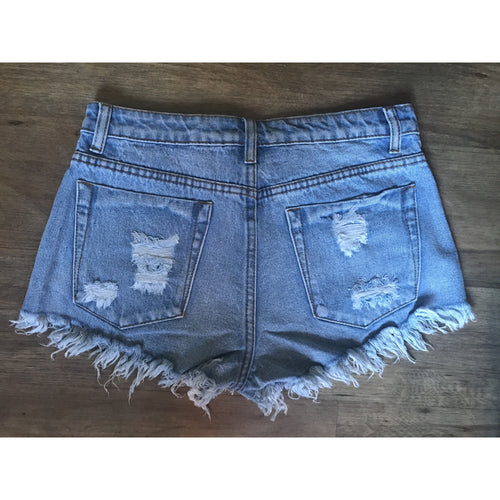Santa Monica Distressed Denim Shorts