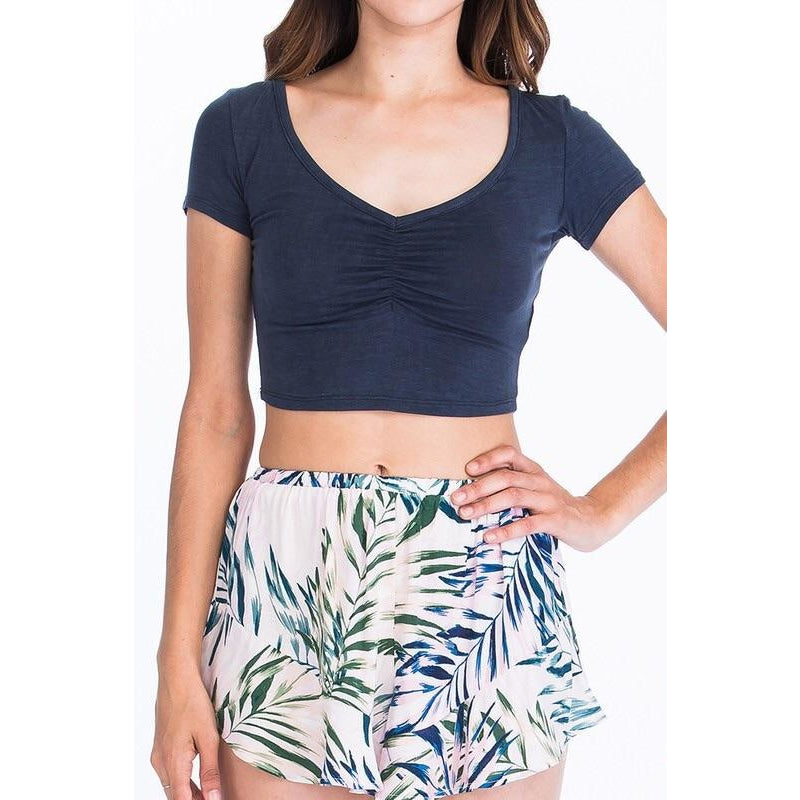 Ruched Crop Tes