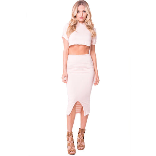 Blush Skirt Set-Set-Savvy Chic Apparel-Savvy Chic Apparel