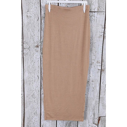 Taupe Midi Skirt-Skirt-Savvy Chic Apparel-Savvy Chic Apparel