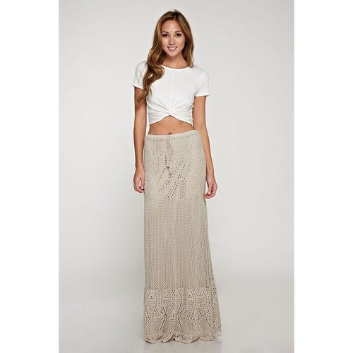 Crochet Lace Maxi Skirt-Skirt-Love Stitch-Savvy Chic Apparel