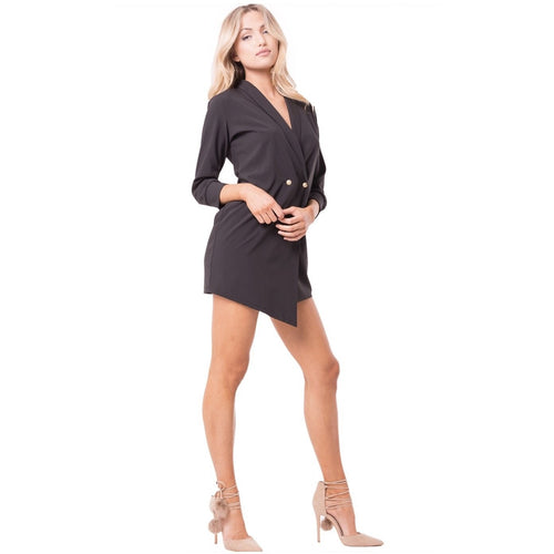 Long Sleeve Blazer Dress 2 Colors
