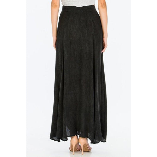 Jet Setter Charcoal Double Slit Skirt-Skirt-Savvy Chic Apparel-Savvy Chic Apparel