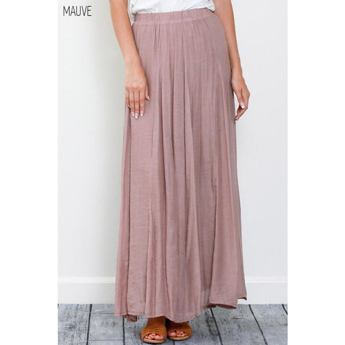 Candace Maxi Skirt, Two Colors-Skirt-Savvy Chic Apparel-Savvy Chic Apparel