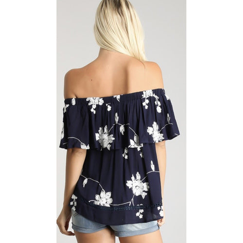 Floral Off the Shoulder Top, Two Colors