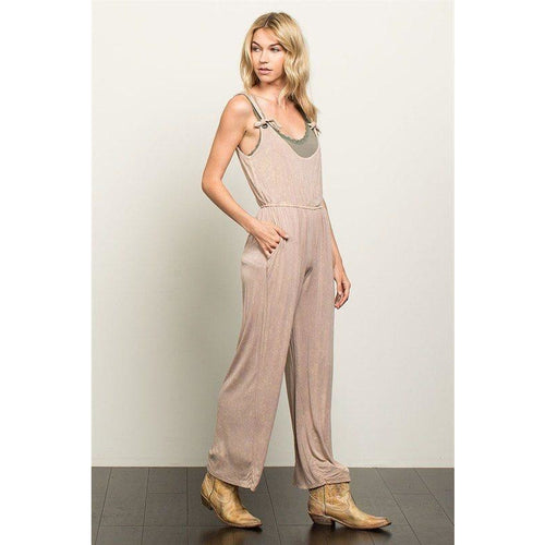 Jumpsuit - Beige Contemporary Overalls