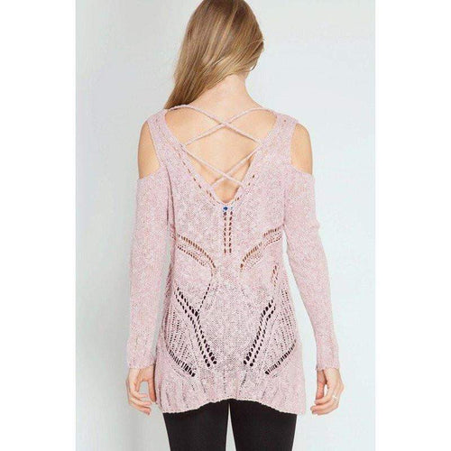 Sweater - Pink Knit Top