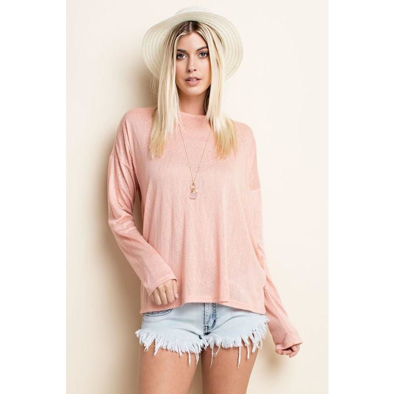 Tops - Peach Knit Top