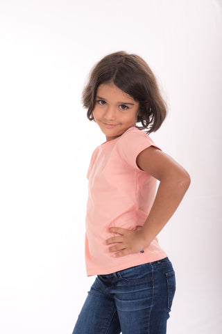 Just Pink 100% Cotton Kids t-shirt, Ethically and Sustainably made, CmiA Cotton