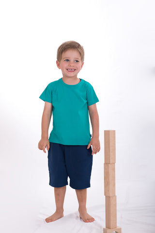 Just Green 100% Cotton Kids t-shirt, Ethically and Sustainably made, CmiA Cotton