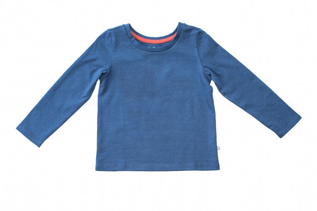 Plain Longsleeve Navy T-Shirt