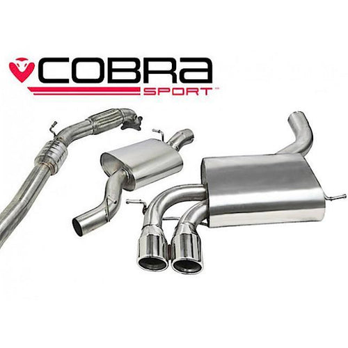 AU09a Cobra Sport Audi S3 8P Turbo-back Sports Exhaust