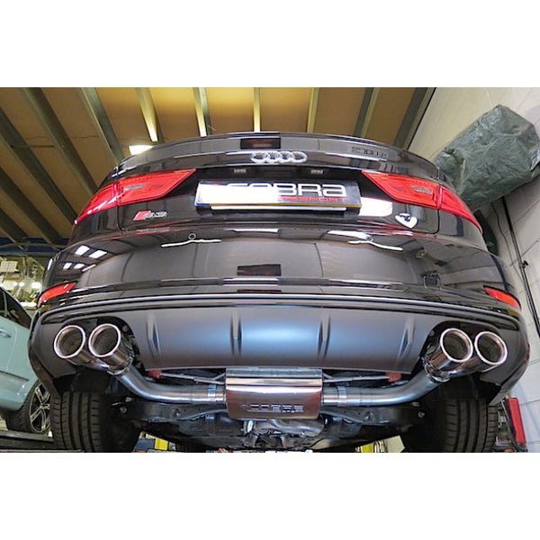 AU68c Cobra Sport Audi S3 Saloon Quattro (8V) Resonated Turbo Back Exhaust with De-Cat Front Pipe