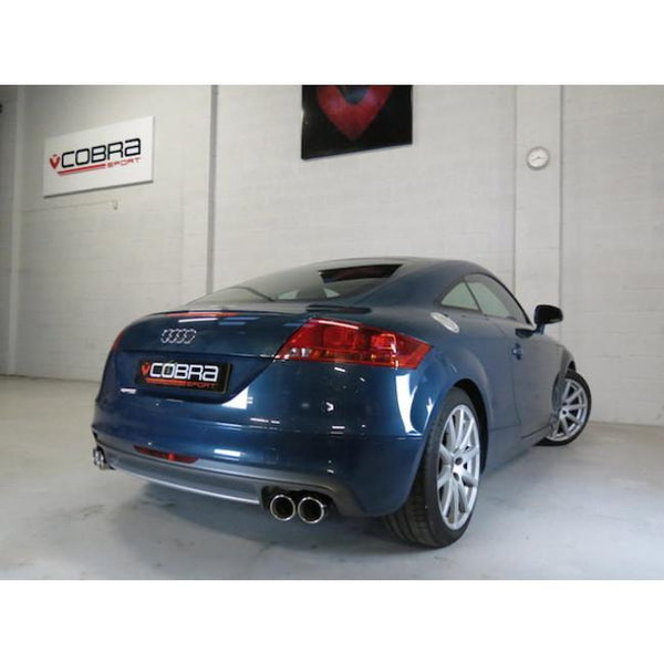 AU30d Cobra Sport Audi TT 1.8 & 2.0 TFSI(Mk2) (2WD) Quad Exit T/P's Turbo Back Package (with De-Cat)