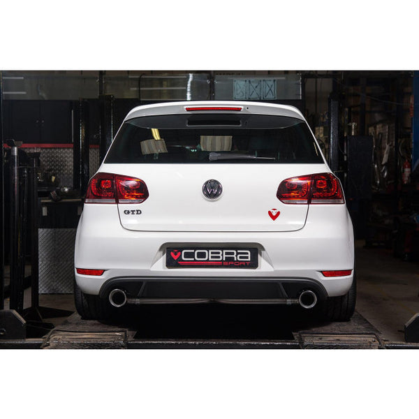 VW56 Cobra Sport VW Golf MK6 GTD 2.0 TDi 170PS Dual Exit Venom Cat Back Sports Exhaust System