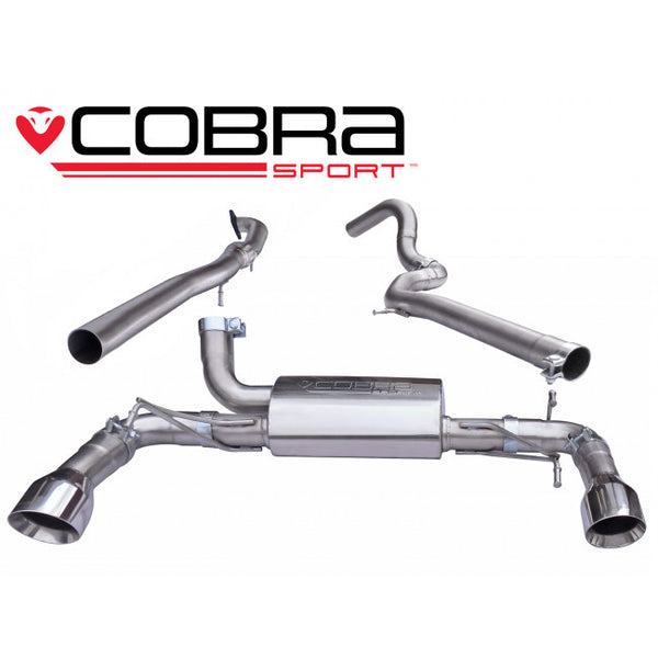 FT11 Cobra Sport Fiat 500 Abarth 1.4 Turbo Non Resonated Cat Back Sports Exhaust