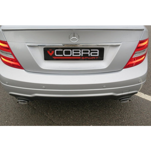 ME16 Cobra Sport Mercedes W204 C180 (1.6 Litre Turbo Petrol) 350 Dual Rear Sports Exhaust