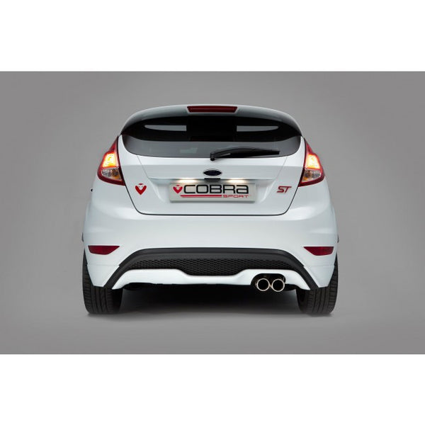 "FD77 Cobra Sport Ford Fiesta MK7 ST 180 3"" Twin Tailpipe Cat Back System (Venom Range - Note Very Loud)"