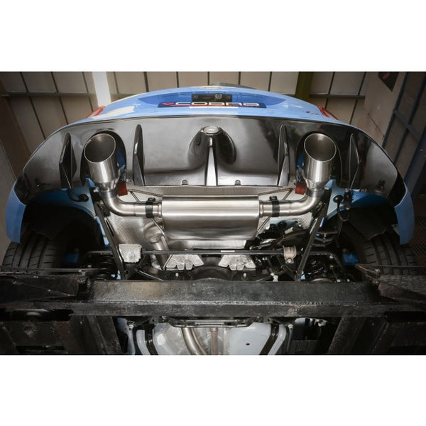 FD89d Cobra Sport Ford Focus RS (Mk3) Turbo Back System (with De-cat & Non-Resonated) (valveless)