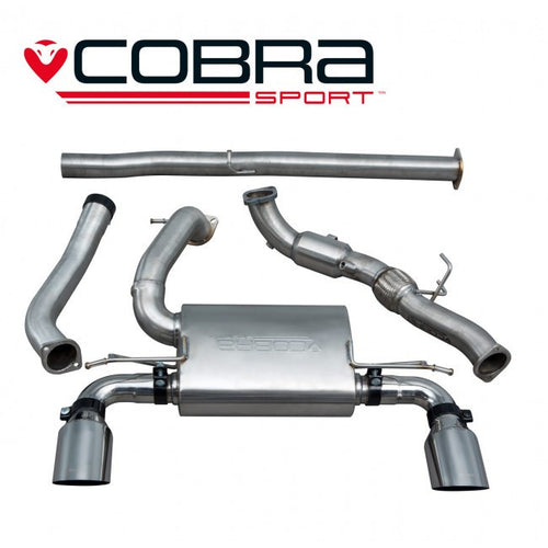 FD89b Cobra Sport Ford Focus RS (Mk3) Turbo Back System (with Sports Cat & Non-Resonated) (valveless)