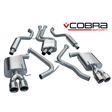 AU58 Cobra Sport Audi S5 3.0 TFSI Resonated Cat Back Exhaust System