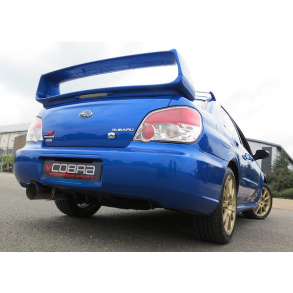 SC02y Cobra Sport Subaru Impreza Turbo Cat Back Sports Exhaust