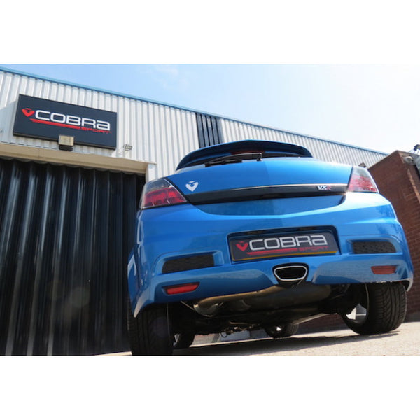 "VZ07b Cobra Sport Vauxhall Astra H VXR 3"" Turbo Back Exhaust (Sports Catalyst / Non-Resonated)"