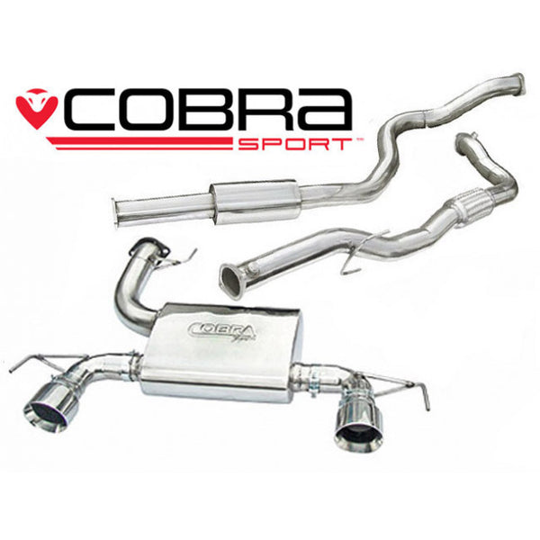 VZ15c Cobra Sport Vauxhall Corsa D VXR Nurburgring Turbo Back Sports Exhaust System