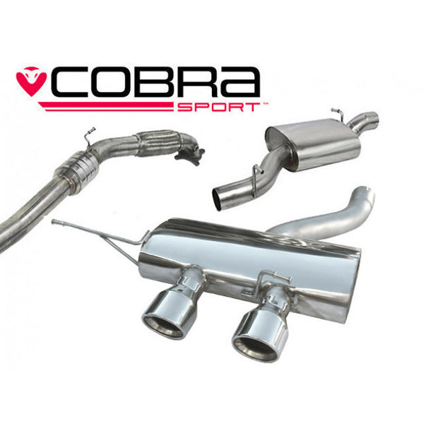 VW27a Cobra Sport VW Golf R MK6 Turbo Back Sports Exhaust System