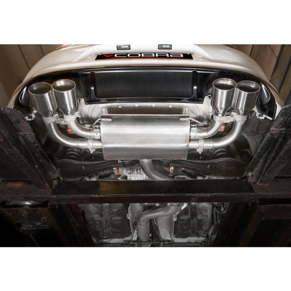 VW70c Cobra Sport VW Golf R MK7 (5G) Turbo Back System (with De-cat & Resonator) - Valvetronic