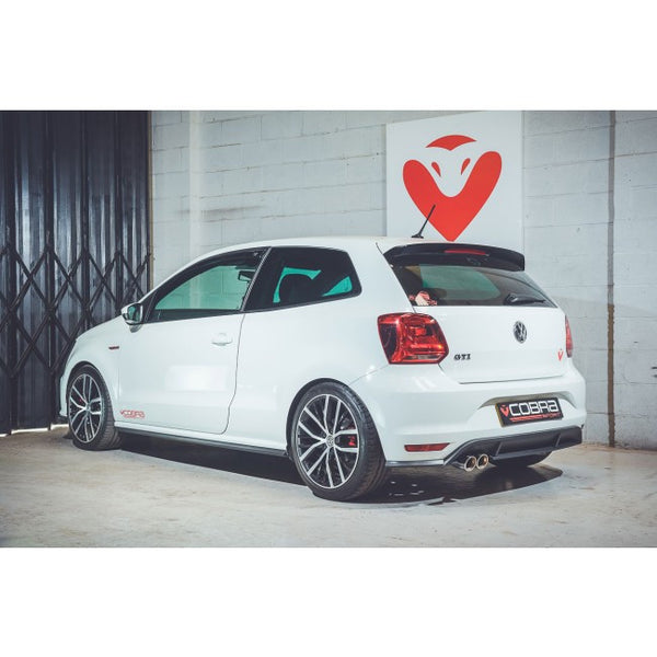 VW67d Cobra Sport VW  Polo GTI 1.8 TSI (2015>) Turbo Back Exhaust (with De-Cat & Non-Resonated)