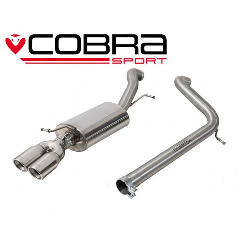 VW65 Cobra Sport VW  Polo GTI 1.8 TSI (2015>) Cat Back Exhaust (Non-Resonated)
