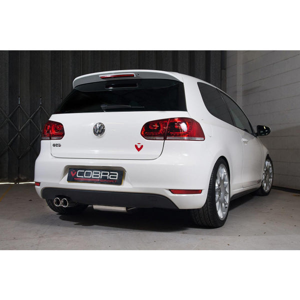 VW54 Cobra Sport VW Golf MK6 GTD 2.0 TDi 170PS Twin Tailpipe Cat Back Sports Exhaust System