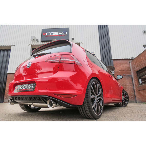 VW51 Cobra Sport VW Golf GTI Mk7 Non Resonated Cat Back Sports Exhaust
