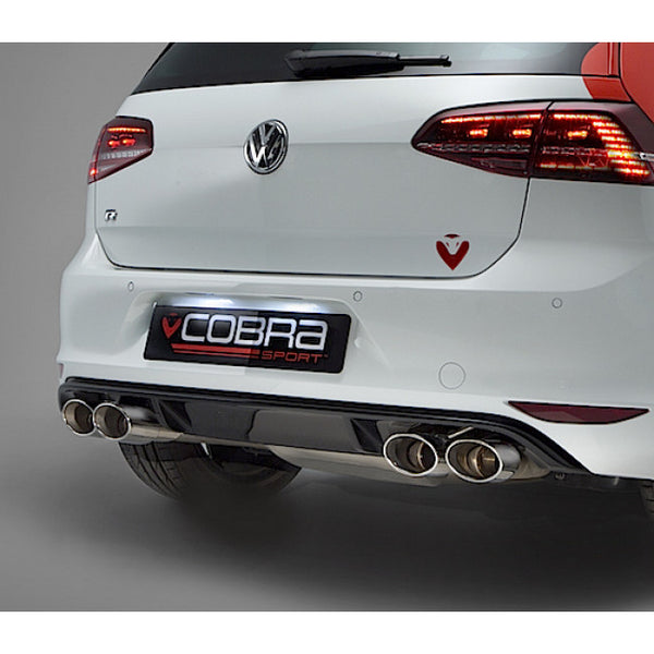 VW50b Cobra Sport VW Golf R Mk7 Turbo Back Package (with Sports Cat & Non-Resonated) - Valveless