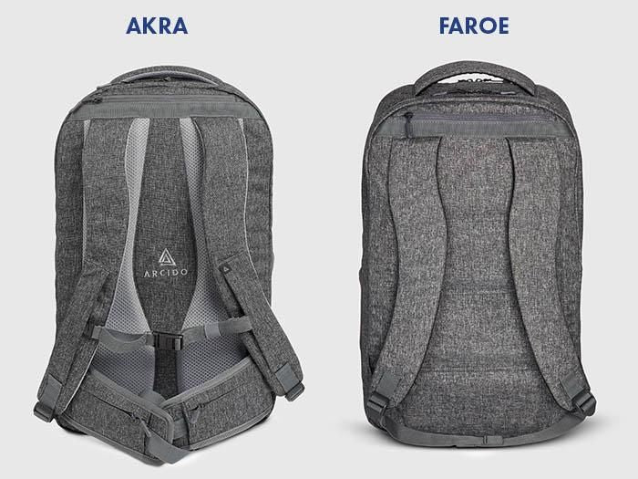 Faroe and Akra backpacks